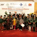 conference on climate change risks to the future of children in Pakistan, held in a hotel in Karachi